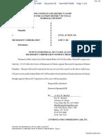Compression Labs, Inc. v. Microsoft Corporation - Document No. 22