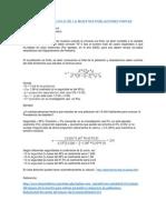 Fórmula Para Cálculo de La Muestra Poblaciones Finitas