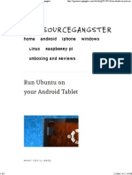 Run Ubuntu on Your Android Tablet — Opensourcegangster