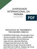 Universidade Internacional Da Paraíba Seminario Troca Ionica Novo Completo