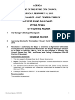 IrvingCC Agenda 2010-02-18