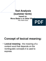 Text AnalysisST