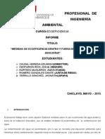 informe sobre medidas de ecoeficiencia en el sector educativo