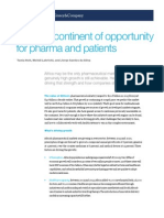 Africa a Continent of Opportunity for Pharma and Patients