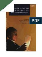 MEJORA DE LA CALIDAD  EDUCATIVA EN MEXICO