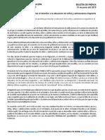 SEP Toma Medidas Para Facilitar El Derecho a La Educación de Niñez y Adolescencia Migrante