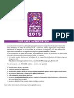 Guia de Juegos Florales Escolares Nacionales 2015