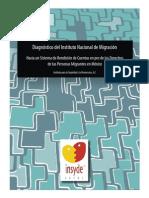Diagnóstico del Instituto Nacional de Migración-Insyde-2013-México