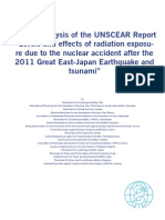 Critical Analysis of UNSCEAR 2014 (by IPPNW)
