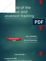 The Role of the Assessor and assessment center