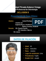 caso clinico oclusion