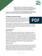 Producto Interno Bruto PBI