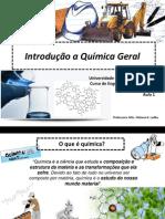 Aula 1-Introdução a Química Geral ALUNOS