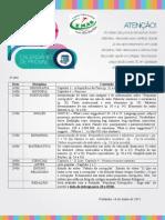 CALENDÁRIO 6° ano DIVULGAÇÃO DAS DATAS DE PROVAS DO 1° BIMESTRE.doc