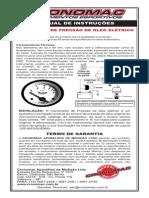 Manual Manômetro de óleo Cronomac