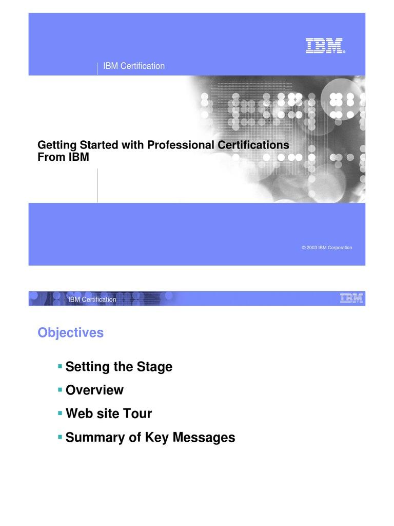 ibm certification professional