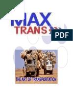 [Maxtrans Ship][Rig Transport Presentation]