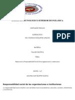 Responsabilidad Social de Las Organizaciones e Instituciones