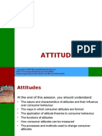 Lecture  PPT on Consumer Behaviour - Attitudes