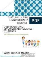 culturally and linguistically diverse