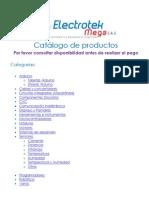 Catalogo ElectrotekMega Sas