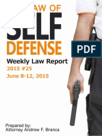 2015 #25 Self Defense Weekly Law Report