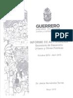 Comparecencia Secretaría de Secretaría de Desarrollo Urbano