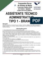 Assistente Tecnico Fgv - Codeba