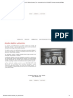 Anodos de Sacrificio, Protección Catódica, Anodos de Zinc, Anodos de Aluminio _ SONAMET-Sociedad Nacional Metalúrgica