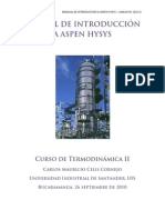 Manual de Introducción a Aspen Hysys