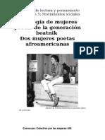 Antología de mujeres poetas de la generación beatnik. Dos poetas afroamericanas.