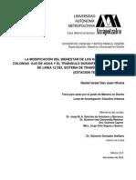 Modificacion Del Bienestar Durante El Desarrollo de Una Obra Publica