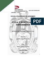 Etica y Biotica en La Enfermera Ojo