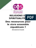 Spiritualites Et Religions Ressources Pour Le Vivre Ensemble Republicain