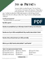 freeparentquestionnaireforbacktoschool