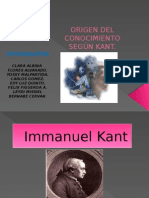 Origen Del Conocimiento Según Kant