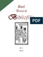Buxi Revista de Bibliofilia 1