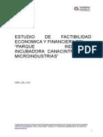 Estudio de Factibilidad Economica y Financiera Del