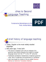 A Brief History of Language Teaching