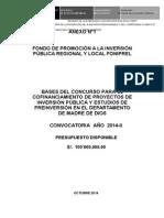 09 25 Madre de Dios Proy Bases Concurso 2014 II Al 171014