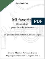 Anónimo. Mi Favorita Para Duo de Guitarras