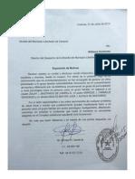 Documentos consignados en la Alcaldía del Municipio Libertador por Enrique Carillo