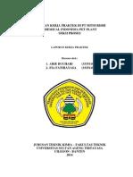 Laporan Kp PT. Mitsubishi Chemical Indonesia Arie Buchari (3335110266) Dan Fia Fathiayasa (3335110138)