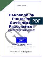 Handbook - Phil. Govt. Procurement