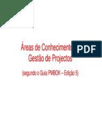 Grupos de Processos das Áreas de Conhecimento- PMBOK5