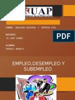 Empleodesempleo y Subempleo
