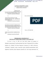 ROCHE DIAGNOSTICS CORPORATION v. APEX BIOTECHNOLOGY CORP et al  RELATED CASE