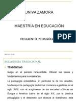 recuento pedagogico
