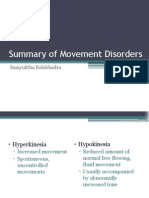 Summary of Movement Disorders