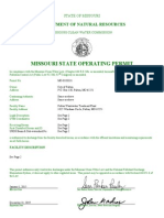Missouri State Operating Permit
